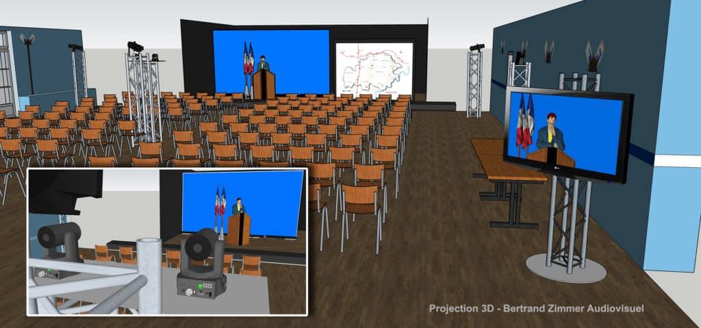 Projection 3D | Bertrand Zimmer Cameraman Moselle Captation vidéo Drone
